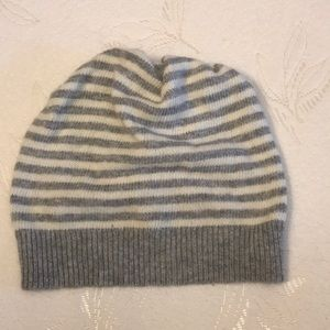 Slouchy striped beanie